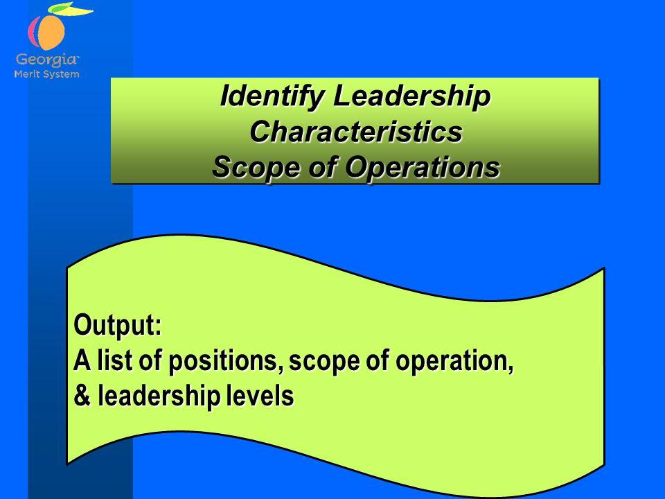 Identify Leadership Characteristics