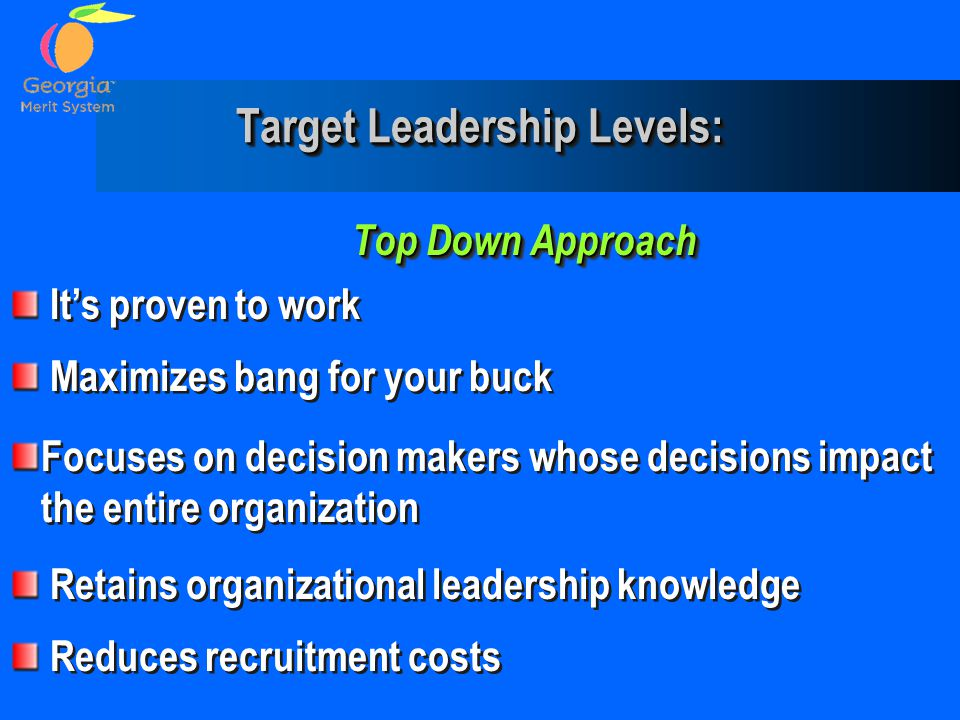 Target Leadership Levels: