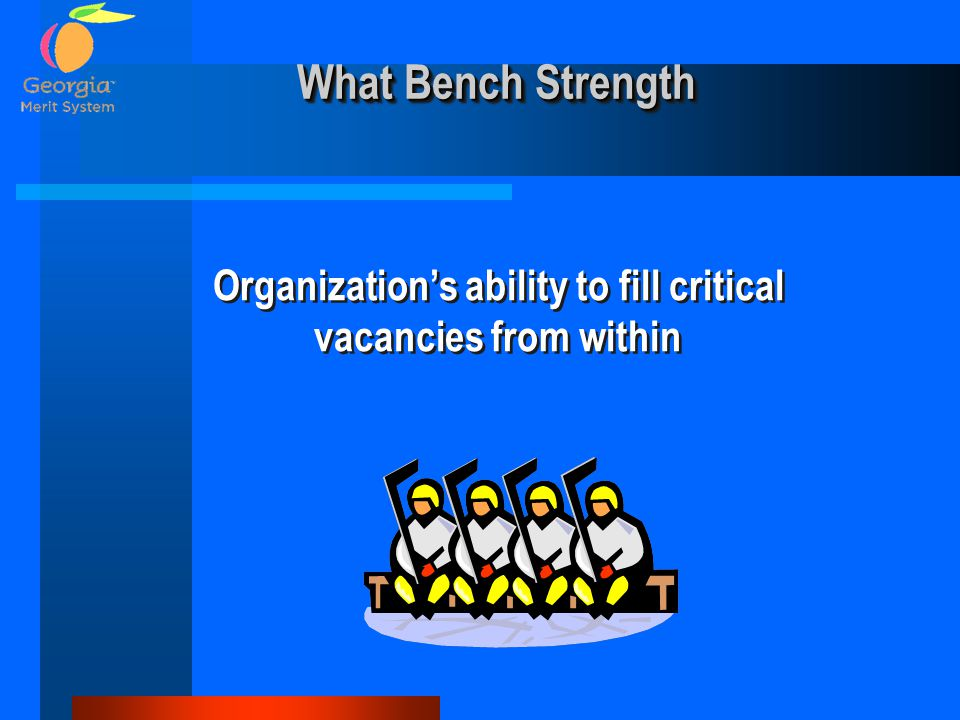 Organization's ability to fill critical vacancies from within