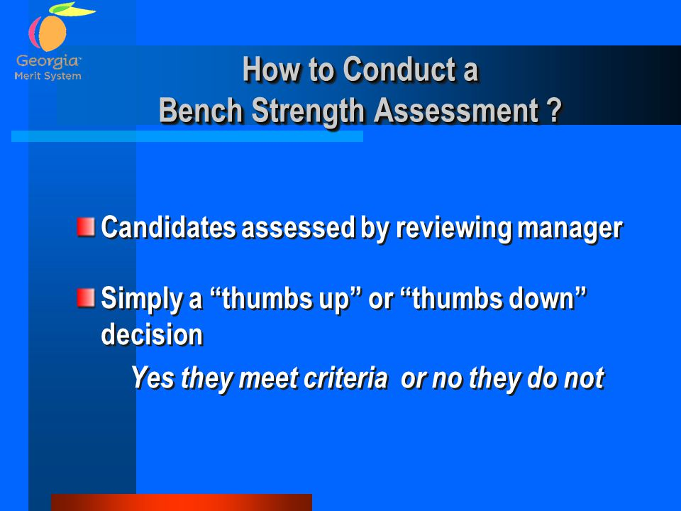 How to Conduct a Bench Strength Assessment