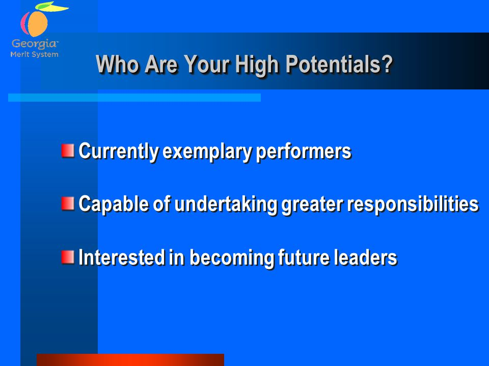 Who Are Your High Potentials