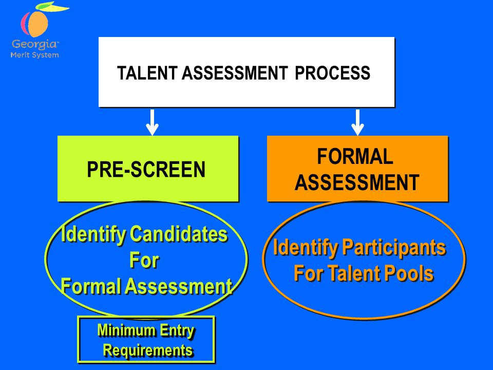 TALENT ASSESSMENT PROCESS Identify Participants