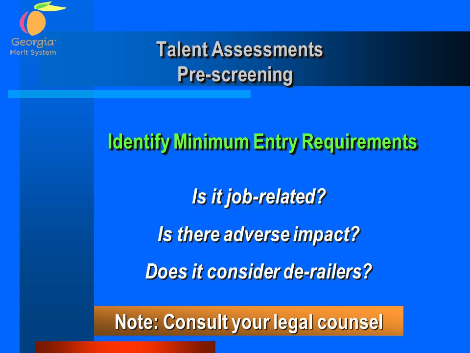Talent Assessments Pre-screening
