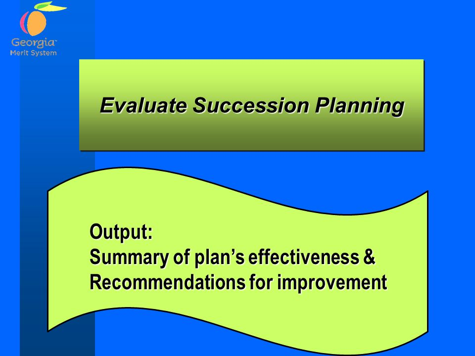 Evaluate Succession Planning