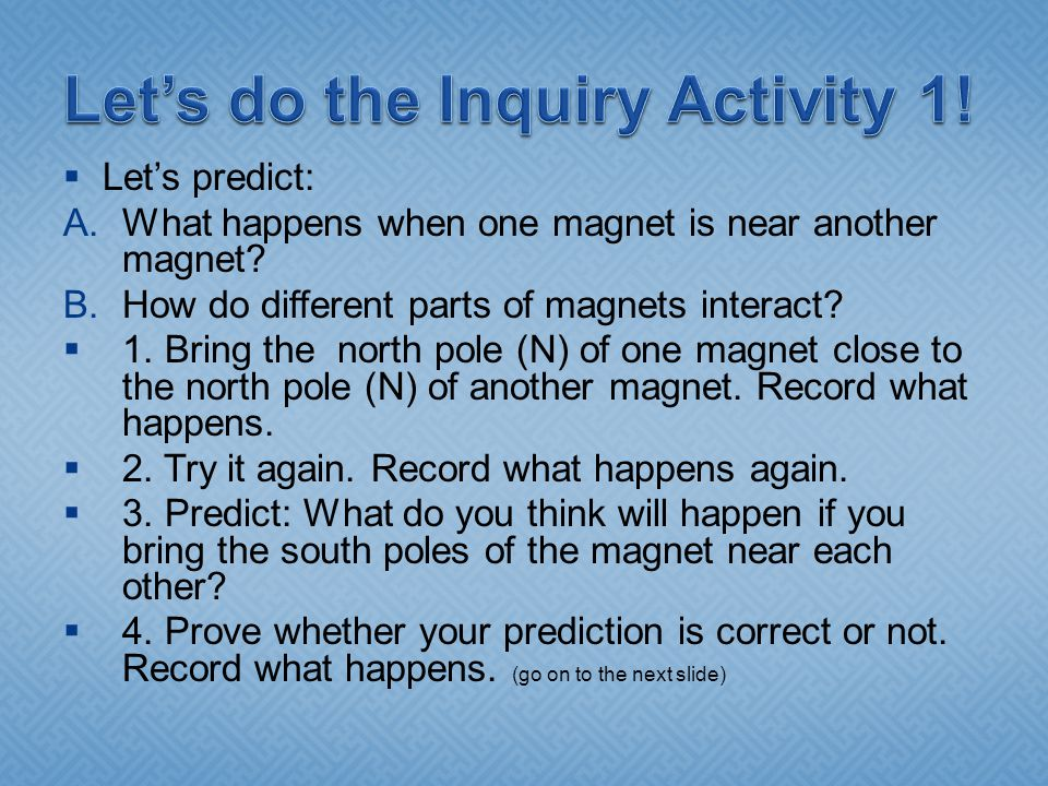 Let's do the Inquiry Activity 1!