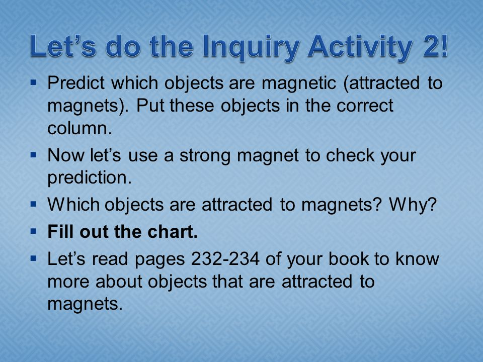 Let's do the Inquiry Activity 2!