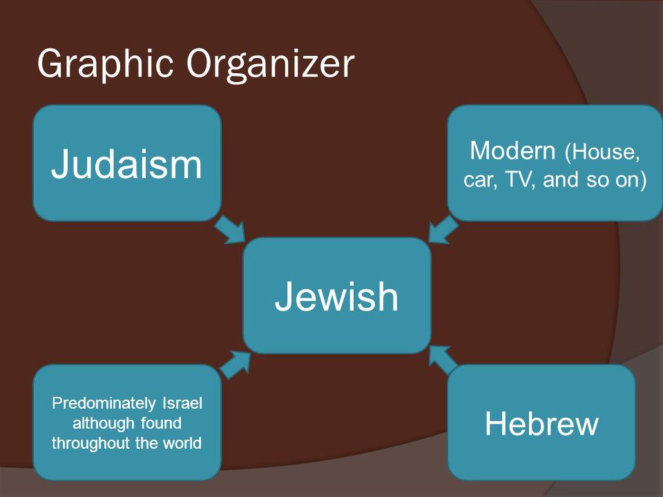 Graphic Organizer Judaism Jewish Hebrew