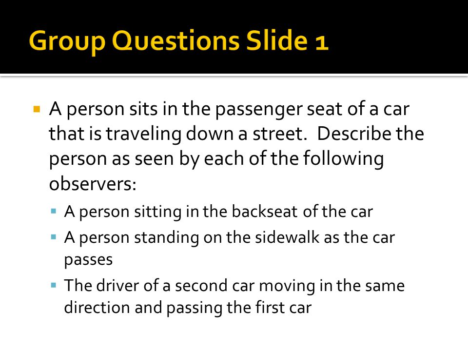Group Questions Slide 1