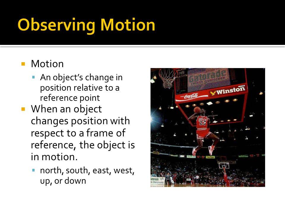 Observing Motion Motion