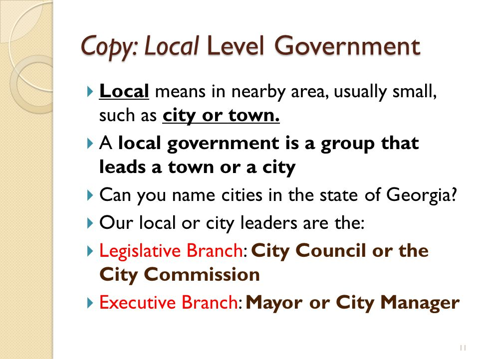 Copy: Local Level Government