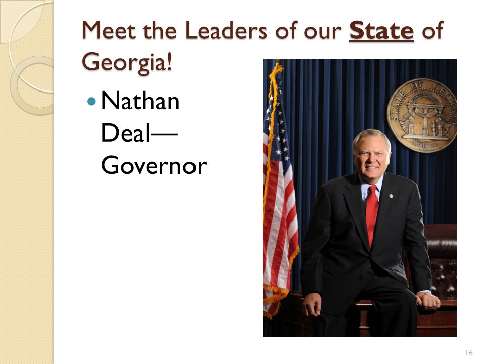 Meet the Leaders of our State of Georgia!