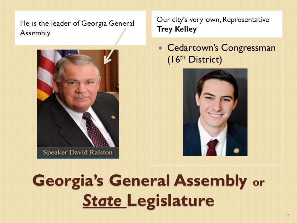 Georgia's General Assembly or State Legislature