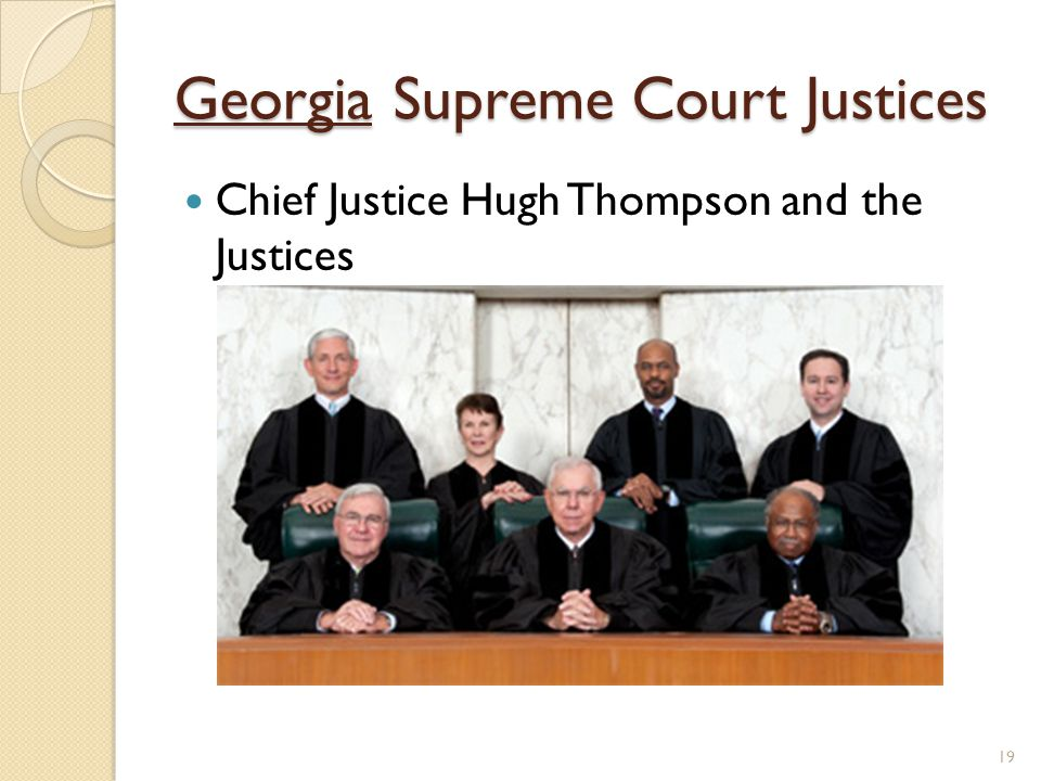 Georgia Supreme Court Justices