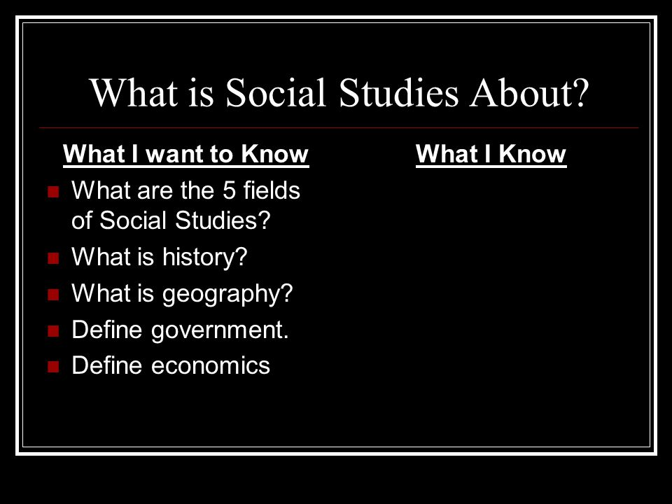 What is Social Studies About
