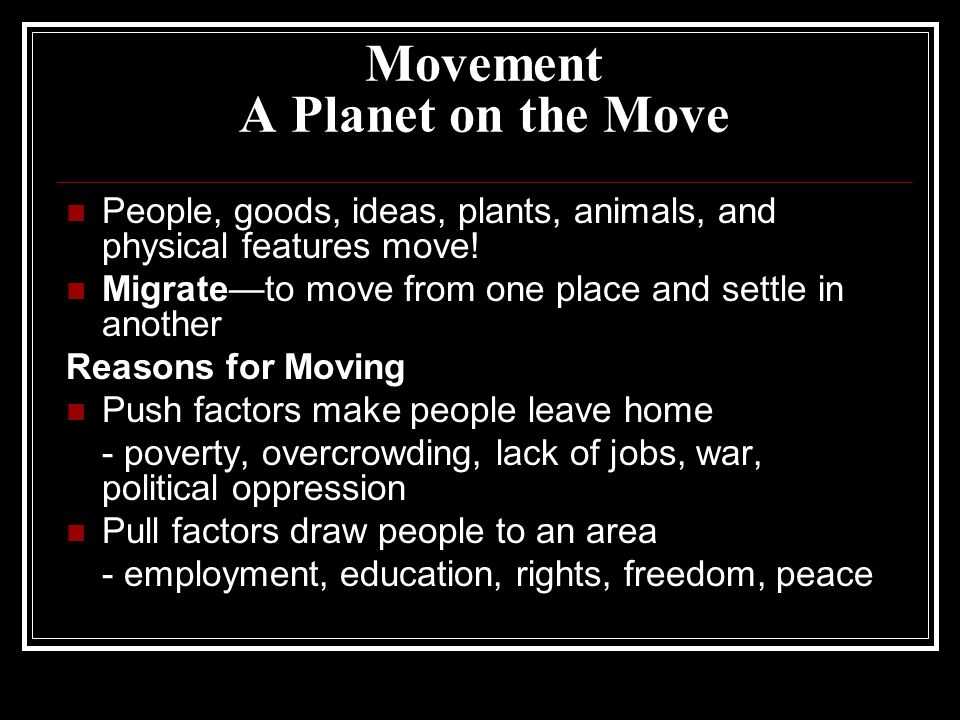Movement A Planet on the Move