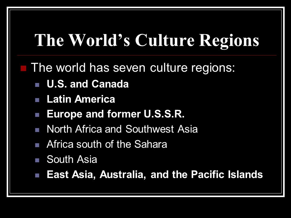 The World's Culture Regions