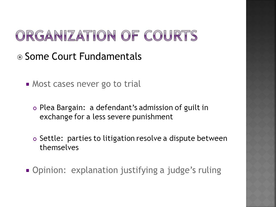 Organization of Courts
