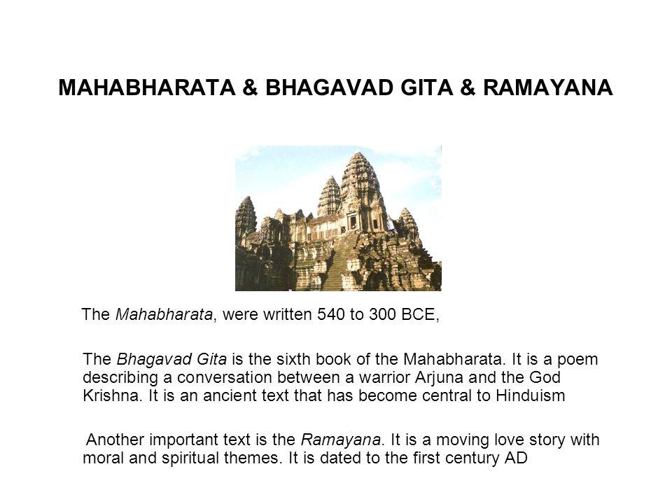 MAHABHARATA & BHAGAVAD GITA & RAMAYANA
