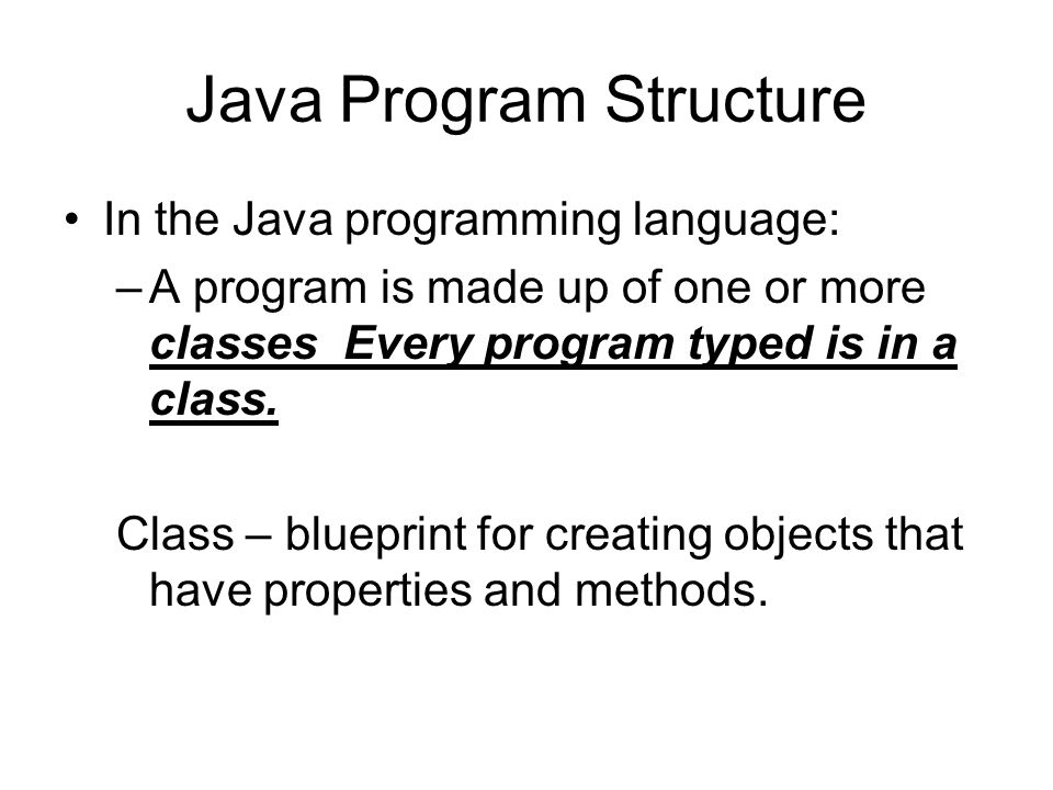Java Program Structure