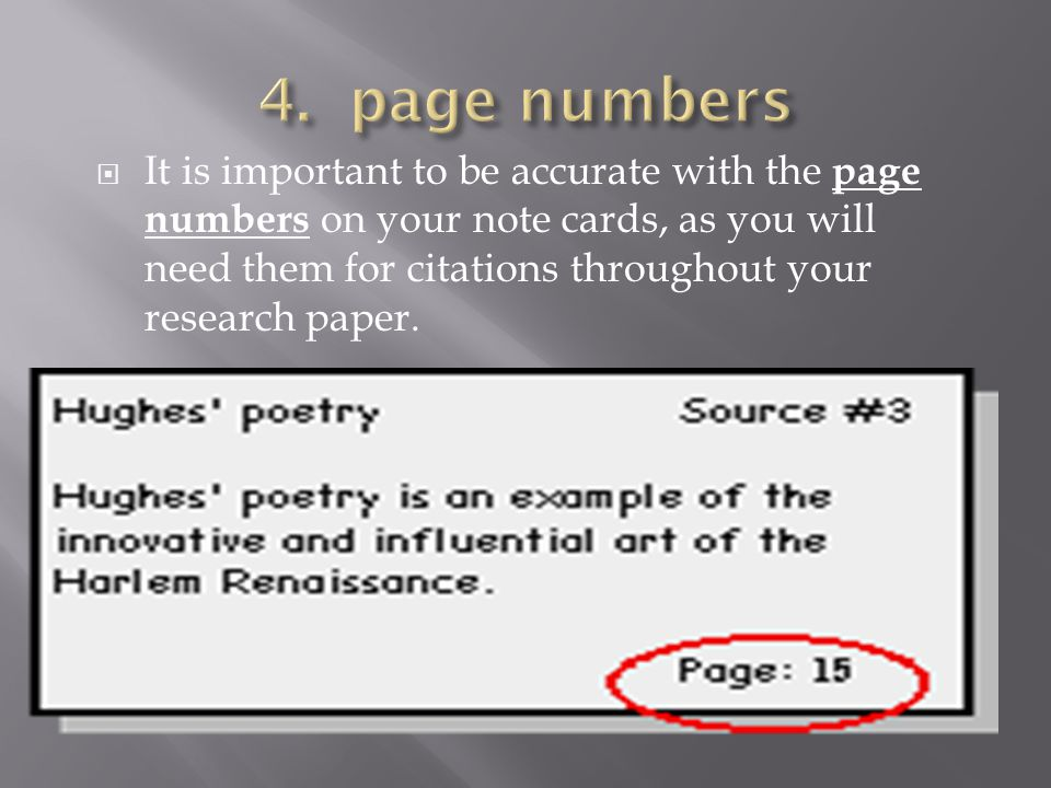 4. page numbers