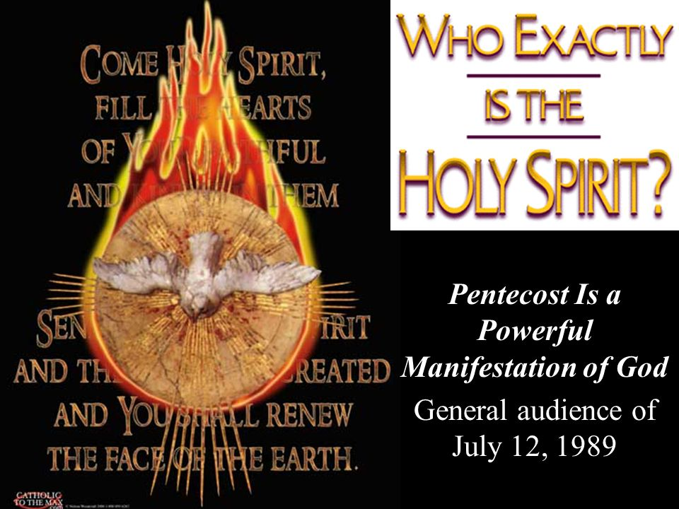 Pentecost Is a Powerful Manifestation of God