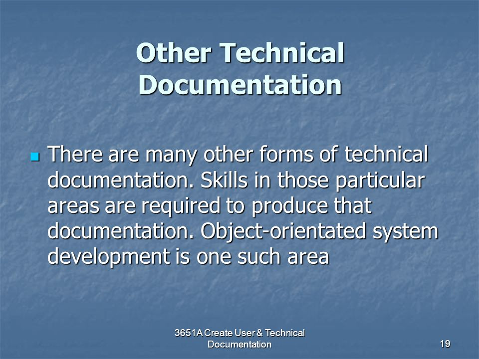 Other Technical Documentation