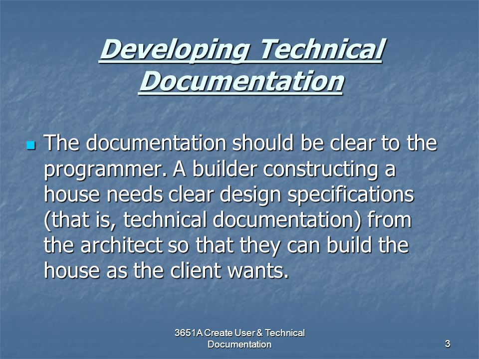 Developing Technical Documentation