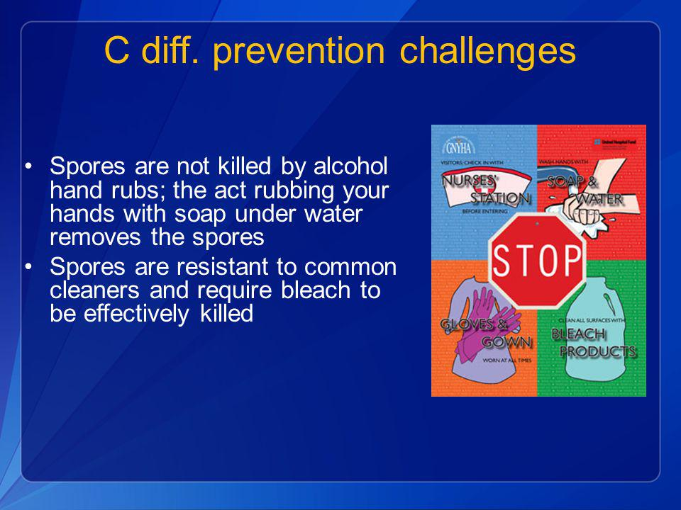 C diff. prevention challenges