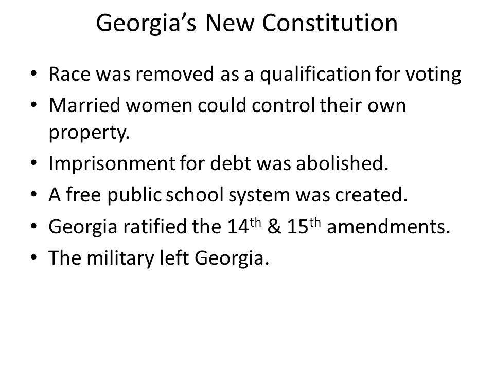 Georgia's New Constitution