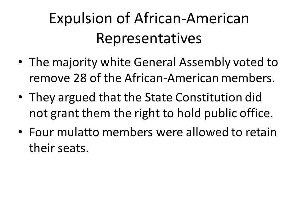 Expulsion of African-American Representatives