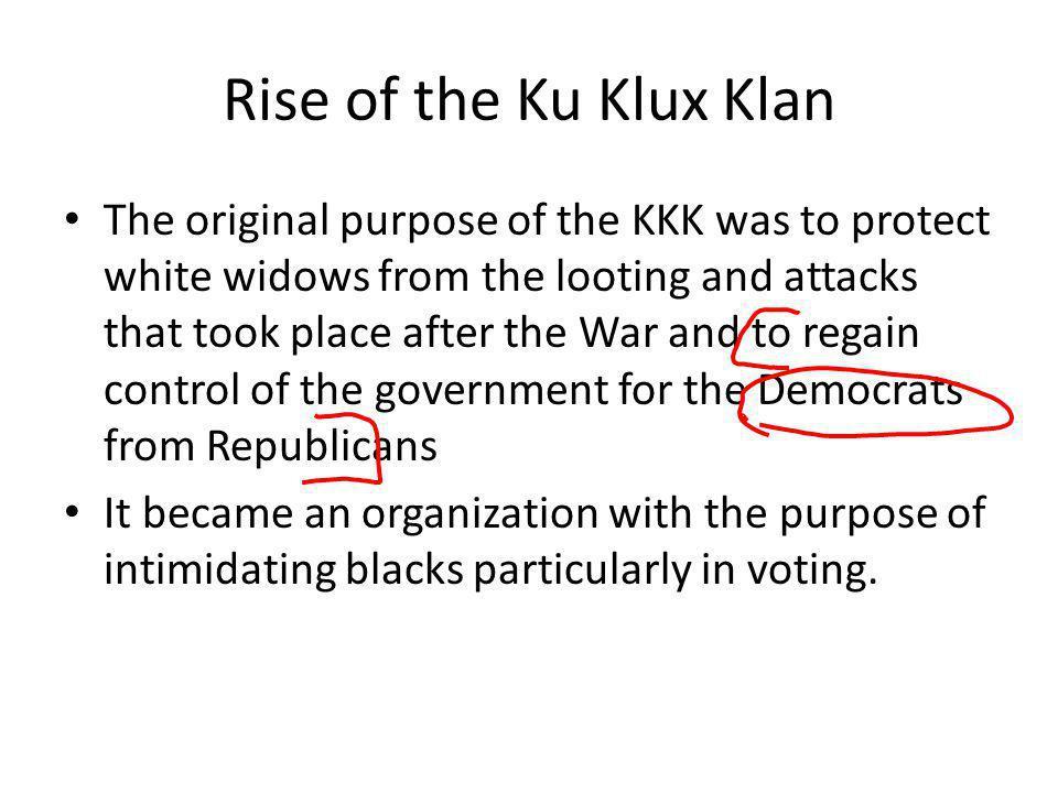Rise of the Ku Klux Klan