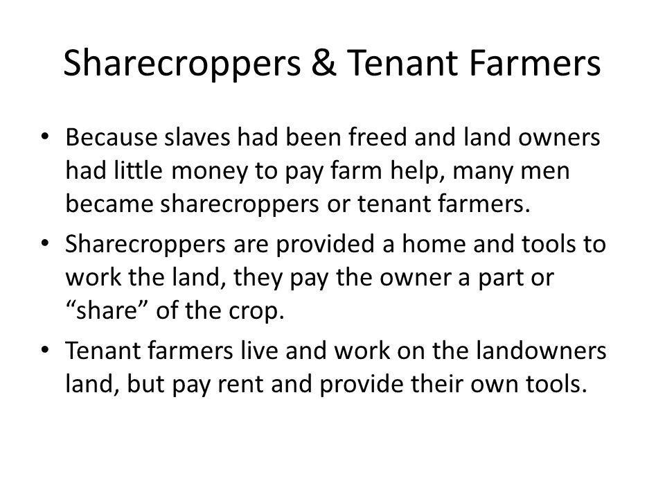 Sharecroppers & Tenant Farmers