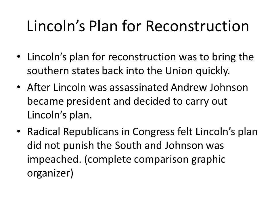 plans for reconstruction