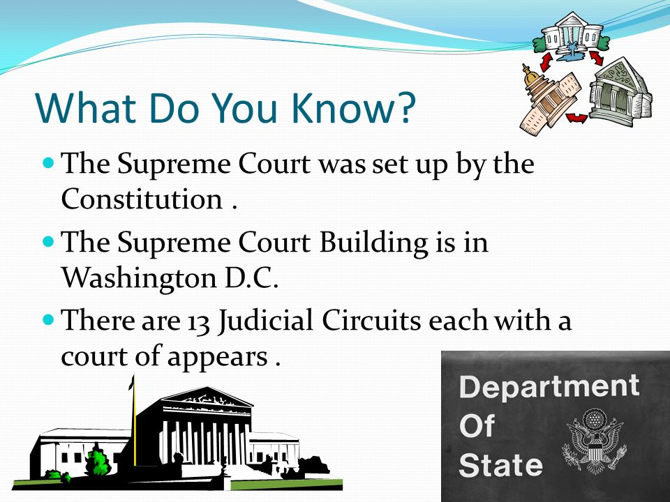 What Do You Know The Supreme Court was set up by the Constitution .