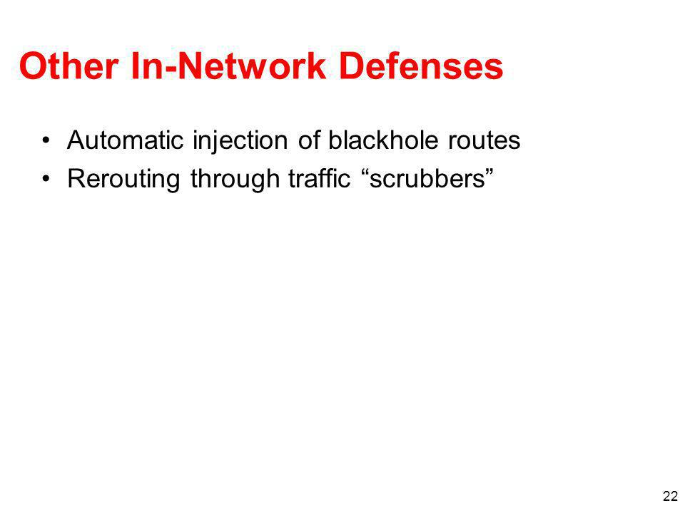 Other In-Network Defenses