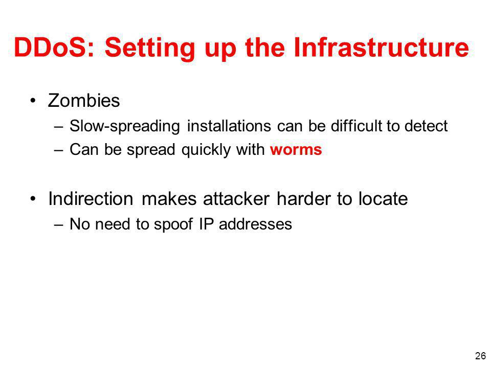 DDoS: Setting up the Infrastructure
