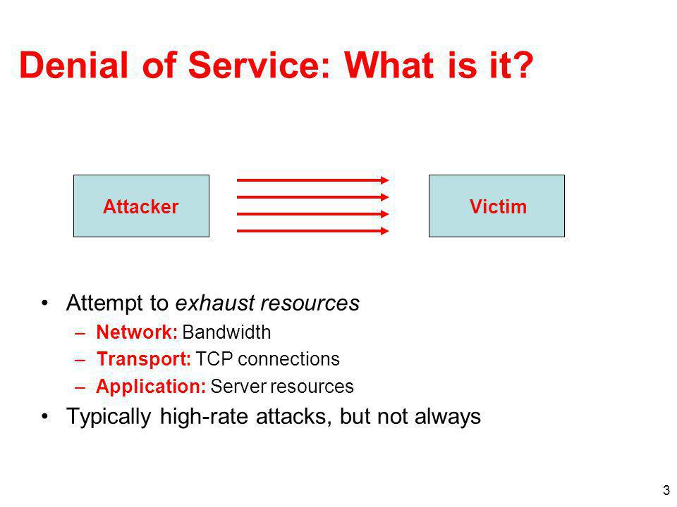 Denial of Service: What is it