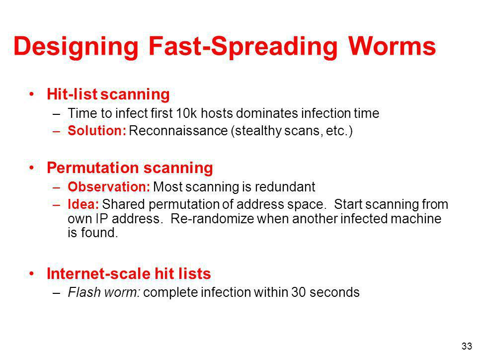 Designing Fast-Spreading Worms