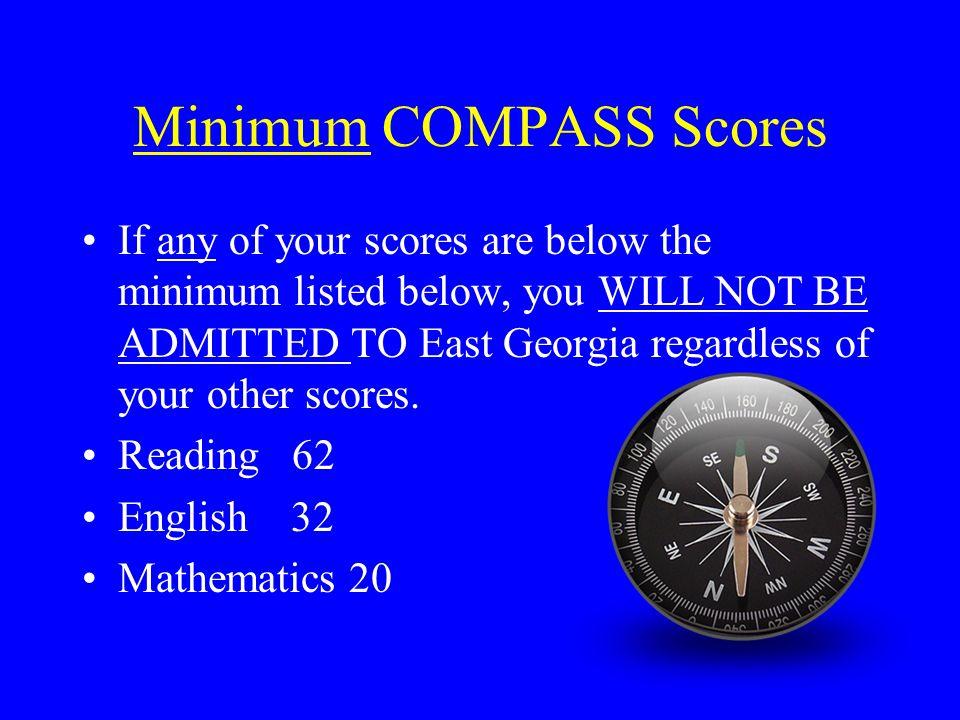 Minimum COMPASS Scores