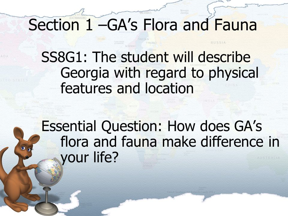 Section 1 –GA's Flora and Fauna