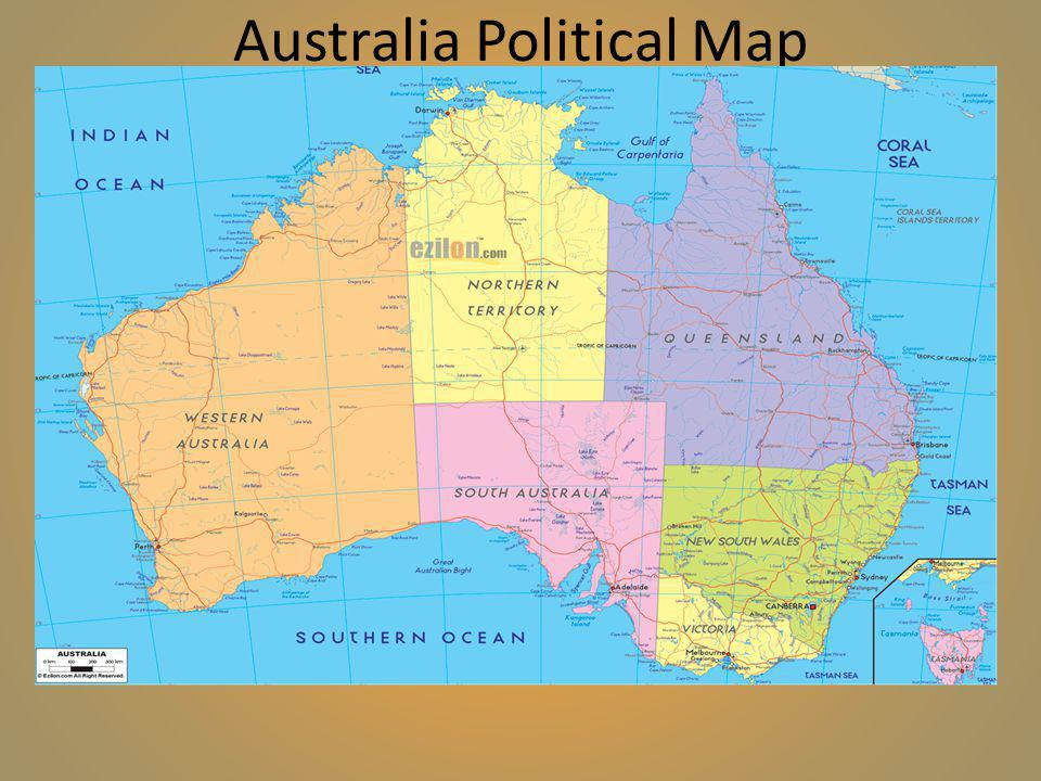 Australia Geography Ppt Video Online Download - Australian political map