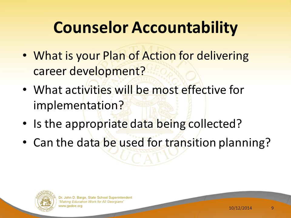 Counselor Accountability