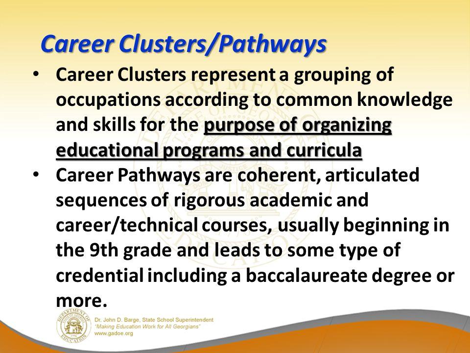 Career Clusters/Pathways