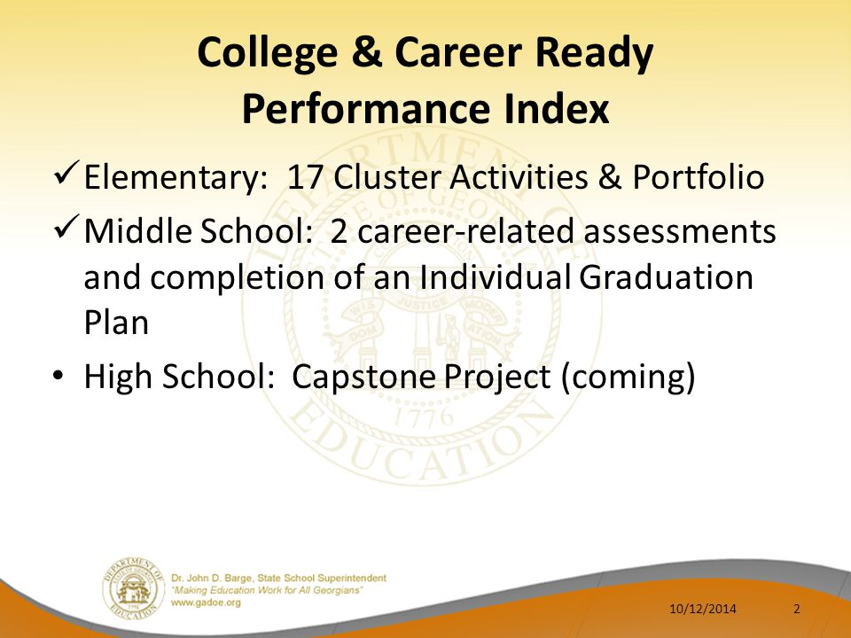 College & Career Ready Performance Index