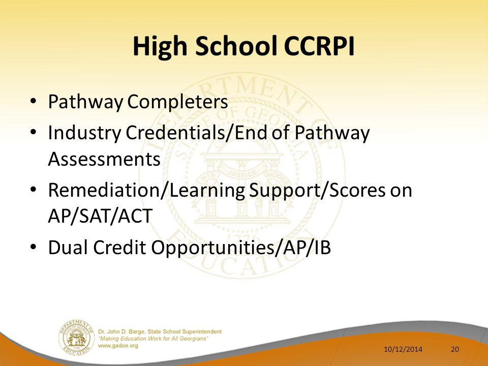 High School CCRPI Pathway Completers