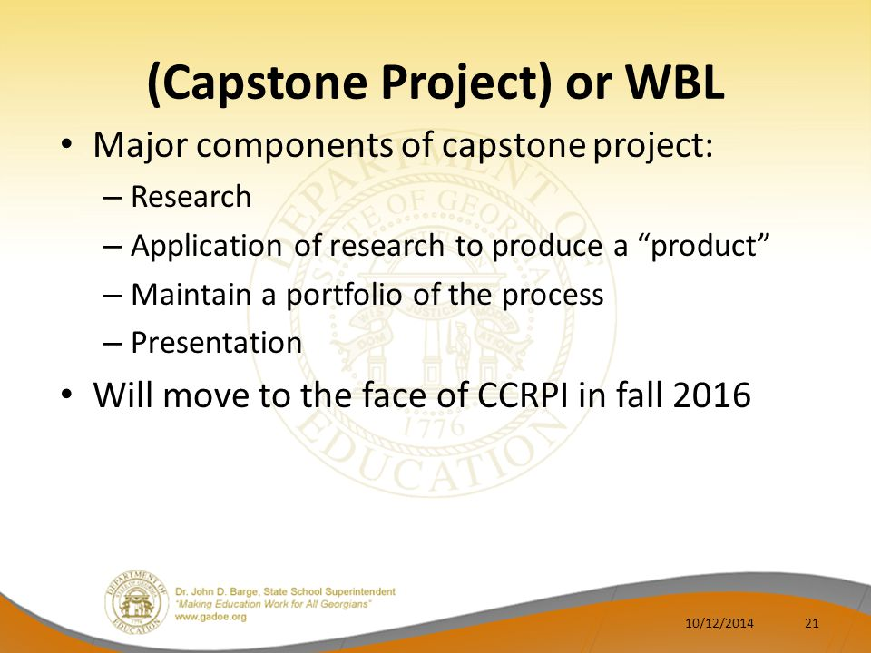(Capstone Project) or WBL