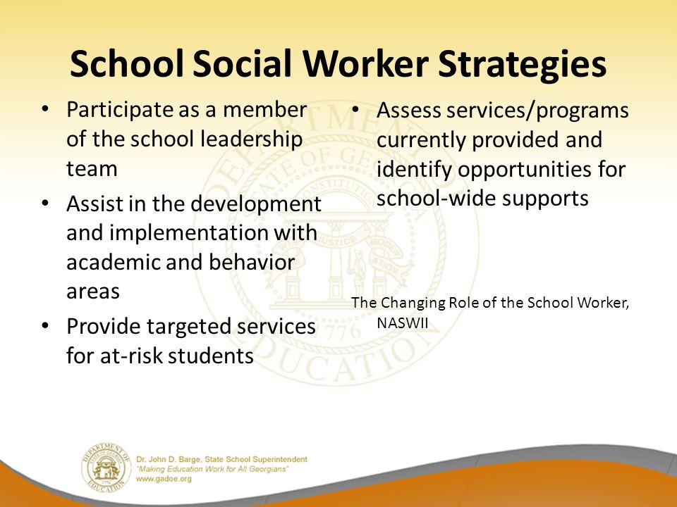 School Social Worker Strategies