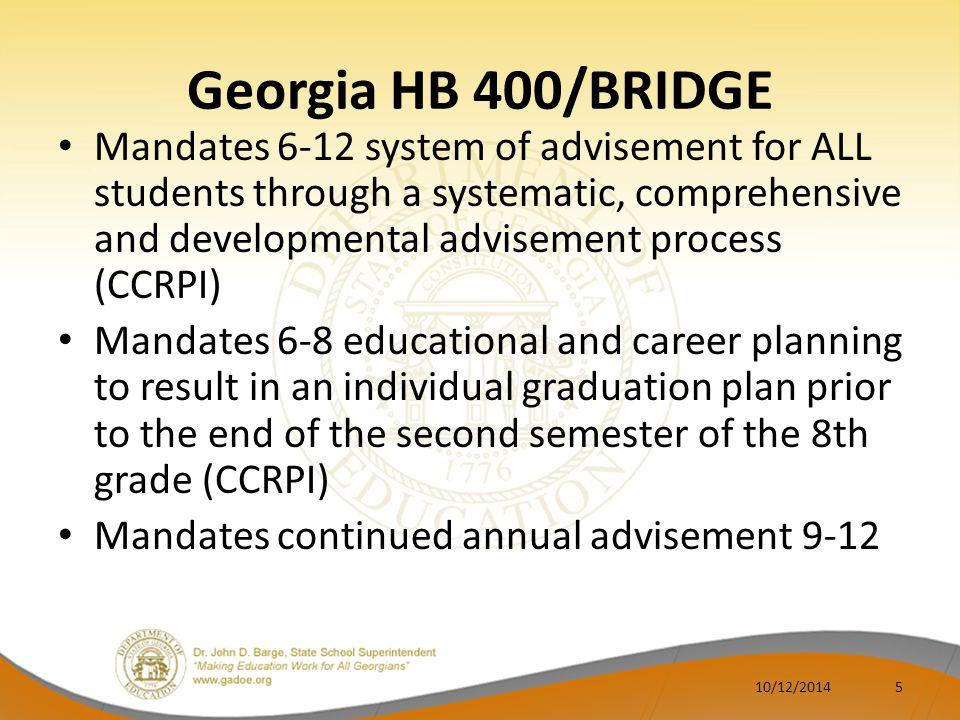 Georgia HB 400/BRIDGE