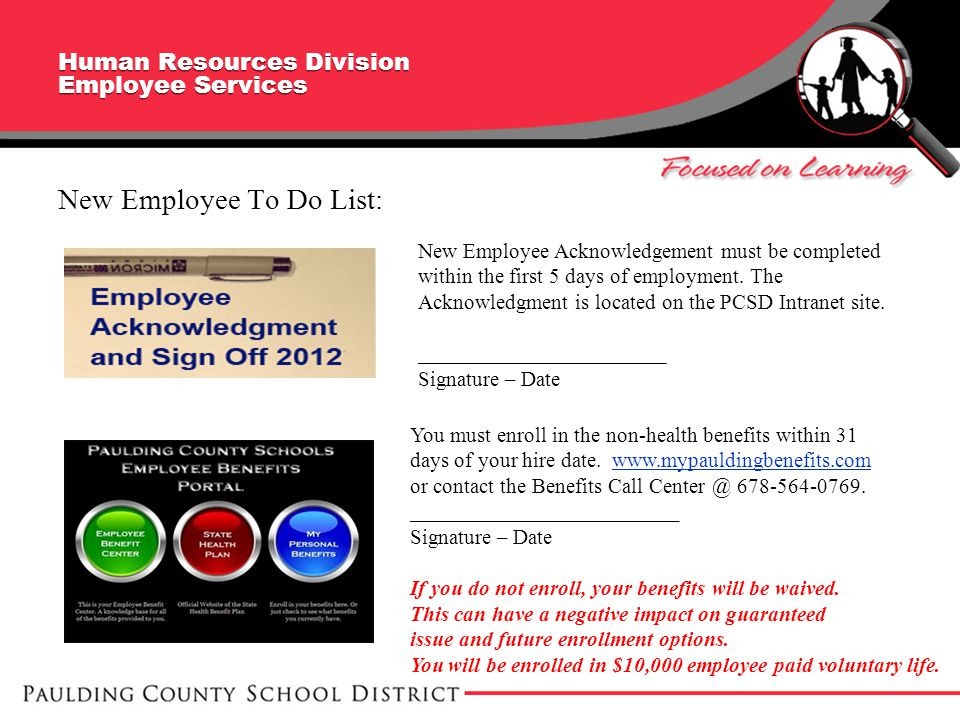 Human Resources Division Employee Services