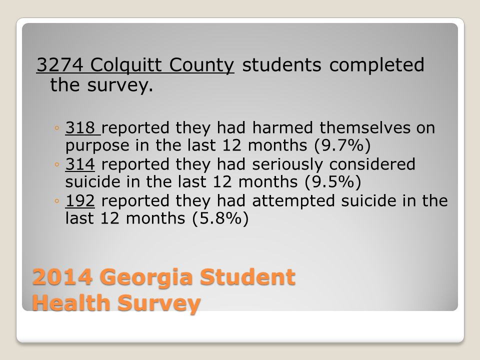 2014 Georgia Student Health Survey